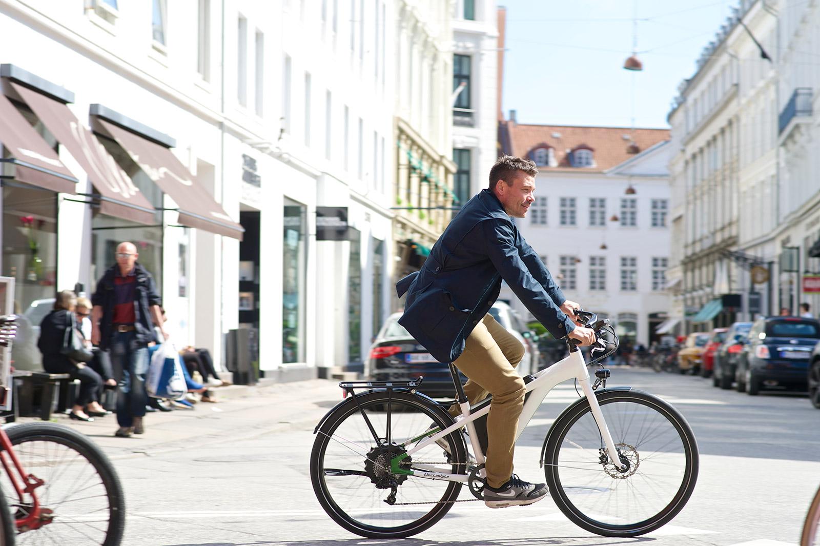 Vorradler unterwegs in Stockholm