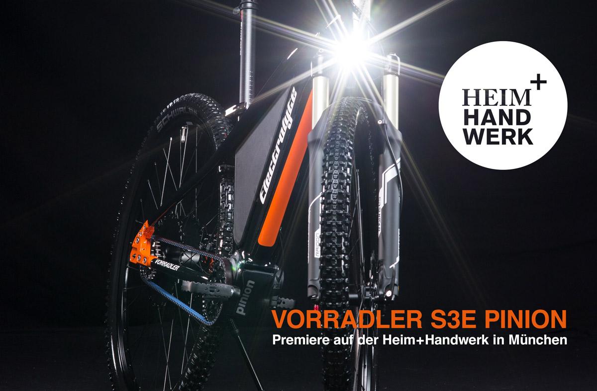 Electrolyte Vorradler S3E Pinion - Exklusive Weltpremiere auf der Heim + Handwerk